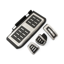 Wholesale vw pedals - Car styling ,Sport Fuel Brake Dead Pedal Cover Set DSG For Seat Leon 5F MK3 For Skoda Octavia A7 For VW golf 7 ,Auto Accessories
