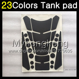 Wholesale R1 Carbon - 23Colors 3D Carbon Fiber Gas Tank Pad Protector For YAMAHA YZFR1 15 16 17 YZF R1 YZF 1000 YZF1000 YZF-R1 2015 2016 2017 3D Tank Cap Sticker