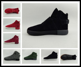 Wholesale Mens Warm Winter Boots - Winter boots mens Tubular Instinct running Shoes 20 colors adult sneaker keep warm men anti-slip By epacket y3factory Sneakers store EU40-45