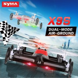 Wholesale Fly Cars - 2018 Newest Syma X9 X9S RC Helicoptero Drones Profissional 2.4G 4CH 6-Axis Quadrocopter Remote Control Flying Car Aeromodelo Free shipping