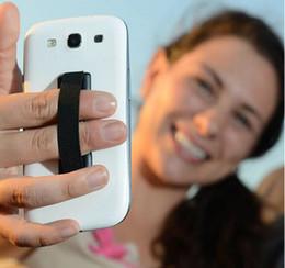 Wholesale Mobile Phone Belt Holders - Finger Grip Phone Holder Cell Phone Handle back Sticker elastic belt single hand Holder Mobile scaffold For iPhone Samsung htc