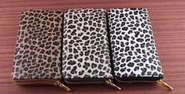 Wholesale Leopard Fashion Korean Bag - 2017 new style man bag New fashion women Long wallets Female leopard print purse personality card holders zipper bags wallet free shipping