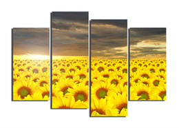 Wholesale Sun Painting Modern Art - Sunflower under the sun Canvas beauty painting Wall Art Decoracion Wall Picture For Living Room Modern Print Painting F 1130