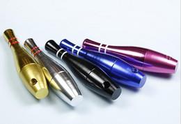 Più recente 76 millimetri bowling bottiglia mini proiettile stile metel tubi di filtrazione tubi di fumo tubi di tabacco colorato portasigarette tubi di piccolo fliter da