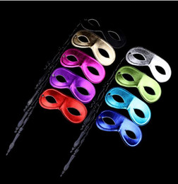Wholesale Mask Sticks - (100 pieces lot) New men and women's masquerade ball masks on sticks Party favor Dress up 10 colors available