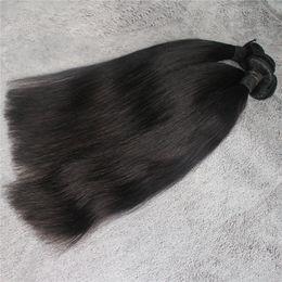 Wholesale Malaysian Hair Straight 3pcs - 3pcs or 4pcs lot Straight Peruvian Human Hair Brazilian Malaysian Indian Mongolian Human Hair Weave Natural Color Hair Extension