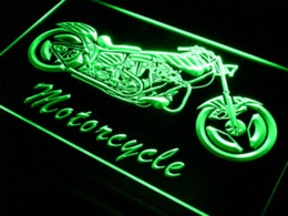 Wholesale Quality Letter Service - i642 Motorcycle Bike Sales Services LED Neon Light Sign Cheap lighted letter signs High Quality lighted restroom signs