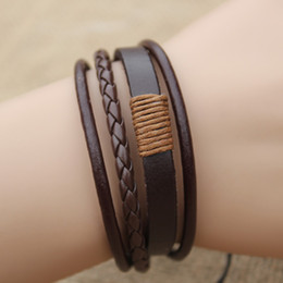 Wholesale Bracelets For Couples Leather - Price Cheap Fashion Infinity Bracelets handmade Couple Bracelet by leather for lovers, 2 colors, Simple & Retro style, Women Men Accessories