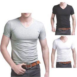 Wholesale Plain Cotton Tees Man - Wholesale-2016 fashion new style Men's Cotton Short Sleeve T-Shirt Tee Crew Neck Solid Plain Tshirt NEW