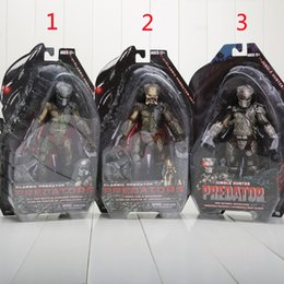 Wholesale Neca Movie - NECA Movie Predator Series 2 Classic Predator PVC Action Figure Collection Toy Doll boys gift approx 18CM 3styles can choose