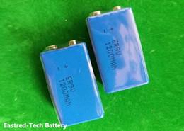 Wholesale 9v Battery Wholesale - 600pcs lot ER9V lithium battery,ER 9V 1200mAh Block cells for smoke alarm