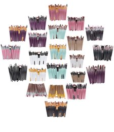 Wholesale Cosmetic Kits For Women - Newest 20Pcs Professional Makeup Brushes make up Cosmetic Brush Set Eye Makeup Brush 22 Color makeup kits set for women