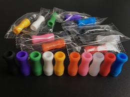 Wholesale E Cigarette Silicon Test - 510 Silicone Mouthpiece Cover Testing Drip Tip Disposable 510 E cigarette Silicon Dust Cap Rubber Tester Drip Tips Ecig Cap 10000PCS