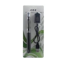 Wholesale Cheap Ce4 Ego Cigarette - CE4 Blister pack kit 1.6ml atomizer 650mah 900mah 1100mah ego battery electronic cigarettes cheap starter kit