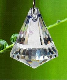 Wholesale Prism Crystal Suncatcher - 6PCS LOT 40mm transparent color crystal suncatcher prism ball crystal glass chandelier part pendant