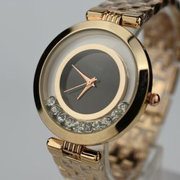 Wholesale Women S Watch Stainless - Women s Luxury Brand Watches Fashion Gold Watch For Woman High Quality Geneva Dress Wrist watch Casual Quartz Watches Crystal Lady watch