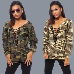 Wholesale Thick Cotton Womens Hoodie - Fashion Womens Casual Sweatshirts Camouflage Sleeve Tops Heloma Shirt Ladies Loose Hoodies Harajuku Tracksuits Female Sudaderas