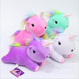 Wholesale Unicorn Plush Toys - unicorn plush toy Rainbow pony Dash doll Kawaii toy For Children Gift For Girl Unicorn Plush Toy Stuffed Animal Doll 23cm LJJK752