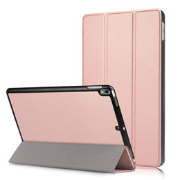 Wholesale Fold Green Screen - for New 2017 iPad Pro 10.5 inch Leather Case Ultra Slim Smart Case 3 Folding Stand Auto Sleep Wake Back Cover
