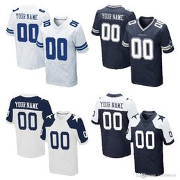 Wholesale Custom Elite Football Jerseys - hot Sale Men's DLS Custom Elite Football Jerseys High Quality & Stitched Any Name & Number You Decide Tour Colors Allowed free shipping