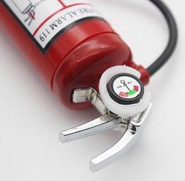 Wholesale Extinguisher Butane - Mini Fire Extinguisher Style Shaped Butane Jet Lighter Cigar Cigarette with LED Flashlight Refillable No gas Smoking Tool Lighter 10pcs lot