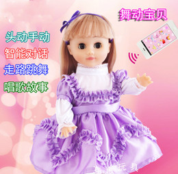 Wholesale Dancing Baby Toy - Super Intelligent Doll Talking Dancing Walking Funny Dialogue Doll Toys Gift for Kids