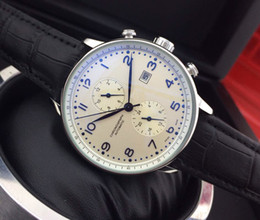 Wholesale Mechanical Black - Black Leather Top luxury brand Fashion Mechanical Mens Stainless Steel Gold Automatic Movement Watch mens Self-wind Watches