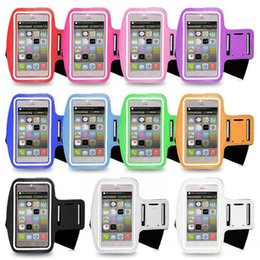 Wholesale Iphone Water Strip - Waterproof Sports Jogging Phone Arm Band Fitness Armband Holder Case For Iphone6s Plus Sport Armband Belt Led Strip Waterproof Kit Iphone