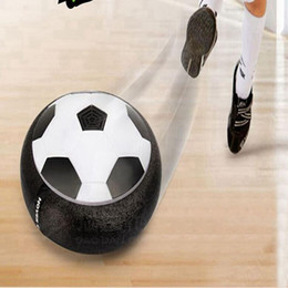 Wholesale Suspension Air - LED Suspension Football Indoor Sport Levitate Football Toys Air Power Soccer Ball For Parent-child Interaction Decompression Toy free ship