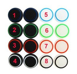 Wholesale Silicone Cap Controller Stick - Dual color Rubber Silicone Thumbsticks Thumb stick Grips caps for Playstation 4 PS3 PS4 XBOX ONE XBOX 360 controllers