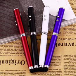 Wholesale Chinese Wholesale Torches - 4 in 1 Laser Pointer LED Torch Touch Screen Stylus Ball Pen for iPhone Brand New Phone Accessories Drop Shipping wholesale