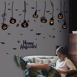 Wholesale Paper Wall Growth Chart - 2017 new hot Window Decor wallpaper stickers stickers door stickers creative Halloween paper SK9094  DHL - Free Shipping