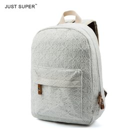Wholesale Trend Travel School Bag - New Arrive Women Lace Backpacks School Travel Bags School Youth Trend Schoolbag Students Canvas Backpack Women Campus Bag