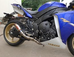 Wholesale Fried Deep - Flame motorcycle exhaust 09-14 R1 YAMAHA direct installation of all titanium oblique mouth GP deep fried artifact