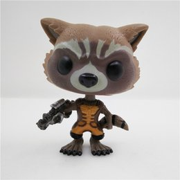 Wholesale Marvel Bobble Heads - CICITOYFIRM FUNKO POP New Guardians Of The Galaxy Funko Pop Marvel 10CM Rocket Raccoon 48# Action Figure Bobble Head Classic Toys Box