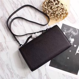 Wholesale Party Hard Cover - Hot sale classic high quality women small grid handbag fashionable caviar shoulder bag black metal envelope bag 24cm free delivery