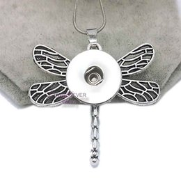 Wholesale One Direction Charms Wholesale - dragonfly High Quality 032 Snap Button Pendant Necklace Fit 18mm Buttons For Women Charm Interchangeable jewelry keychain one direction