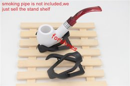 Wholesale Wholesale Cigar Holders - 20pcs lot epacket free shipping USA UK Germany Durable Foldable Stand Cigar wood Meerschaum Tobacco Smoking Pipe Gift Rack Holder display