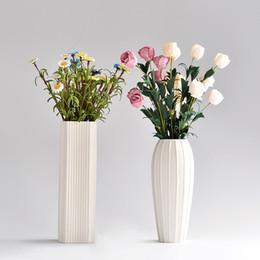 Argentina Estilo moderno minimalista, sala de estar, estudio de la mesa del dormitorio Decoración de alta calidad de cerámica jarrón blanco 3N001 Suministro