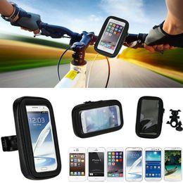 Wholesale Mega Apple - Universal Waterproof Bicycle Bike Handlebar Mount Holder Bracket Bag Case For Samsung S6 S7 Edge Mega 6.3 iPhone 6 6S Plus HTC Sony Huawei