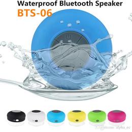 Canada BTS06 Bluetooth Etanche Haut-Parleur Douche Haut-parleurs Sans Fil BTS-06 Mains Libres Mains Libres pour iPhone 5 5S 4S Samsung S4 Smartphone avec boîte de vente au détail Offre