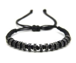 Wholesale Men Braids Designs - Retail 1PCS New Design Fashion Men & Girl Jewelry, Weaving Haute Wheel Fastness Cubic Zirconia Braided Macrame Bracelets