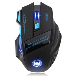 Wholesale Pc Computers Laptops - 2016 Adjustable For Pro Gamer 2400DPI Optical Wireless Gaming Mouse Gamer For Laptop PC Computer accessories Top quality #LYFE06