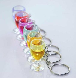 Wholesale Free Cell Flash - Free Ship 50pcs 1.6*3.5cm Wine Cup Keychain Keyring Cell phone straps Phone Strap DIY Bag MP3 MP4 U flash disk Pendant Xmas Gift