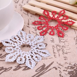 Wholesale Wholesale Paper Snowflake Decorations - DIY Christmas Snowflake Metal Steel Cutting Dies Stencil for Scrapbooking Embossing DIY Xmas Paper Card Making Decoration Crafts