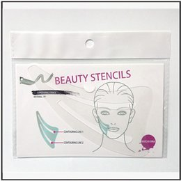 Wholesale Face Makeup Stencils - Wholesale New Cosmetic Facial Contour Stencil Make up Blush Stencils Drawing Guide Face Makeup Template Tools