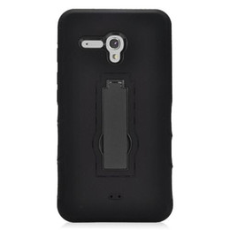 Wholesale Cheap Phones Free Shipping - On Sales Hot Cheap Rugged Defender Case Hybrid Dual Layer Protective Kickstand Phone Cover for Alcatel One Touch Fierce XL DHL Free Shipping