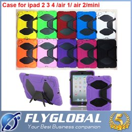 Wholesale Military Smart Phones - Shockproof Hard Military Cases Covers PC&Silicone Skin Protector Cell Phone Cases for Ipad 2 3 4 ipad air ipad air 2 ipad mini 4 3 2 1