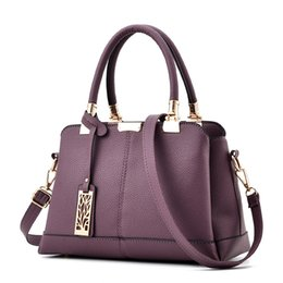 Wholesale Brand Handbags For Cheap - Fashion Handbags Shoulder Bags Branded Design For Women 2017 Hot Sale Beach Shopper Totes PU Leather Messenger Bag Cheap Wholesale