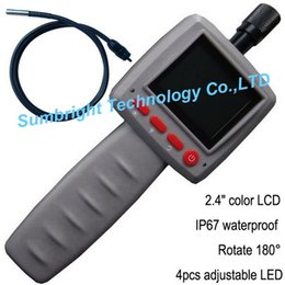 Wholesale Electronic Inspection Camera - Wholesale-SB-IE99D-8.5mm-2M 2pcs*handheld china instrument electronic motorcycle tool borescope inspection camera with 2M flexible tube